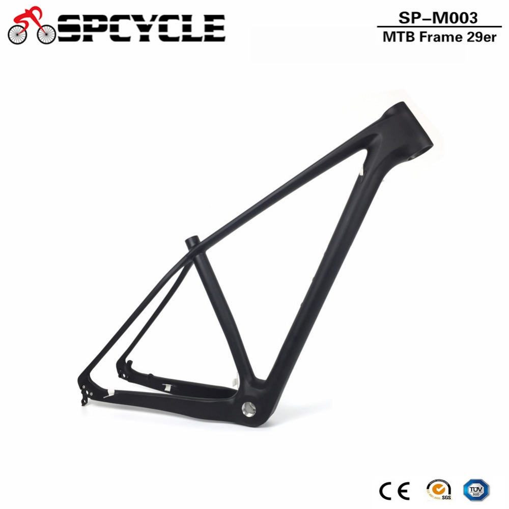 29er Full Carbon Mountain Bike Frame 29er T1000 Carbon MTB Bicycle Frame BSA 73mm 142*12mm Thru Axle & 135*9mm MTB Bicycle Frame цена