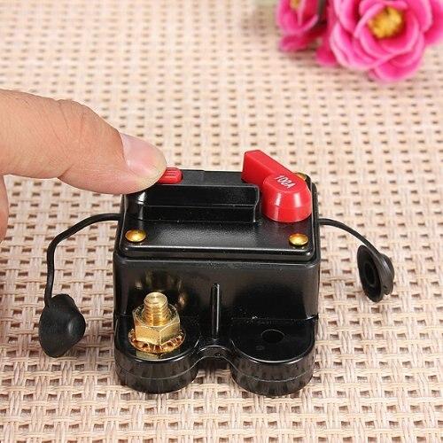Cheap WSFS Hot 12-24V DC amplifier fuse holder breaker 100A car kfz assurance