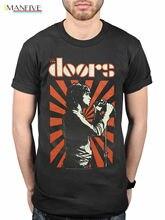 Official The Doors Футболка Roi Lezard Groupe Produit Derive Джим Моррисон La O-Neck Мода Повседневн Лучший!
