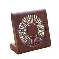 Usb 5V 4.5W Wood Grain Ultra-Thin Foldable Fan For Notebook Household Appliances