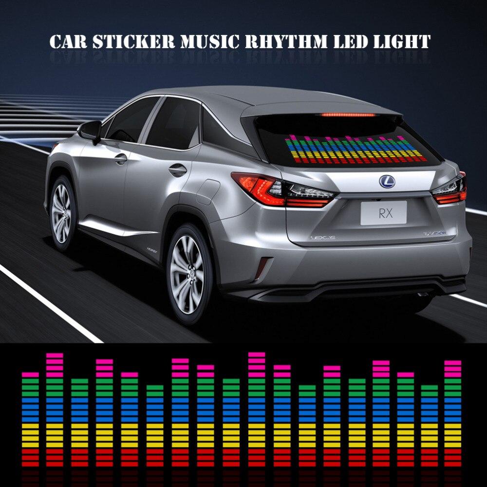 90cm car sticker music rhythm led light car rhythm flash lamp sound activated equalizer red with. Black Bedroom Furniture Sets. Home Design Ideas
