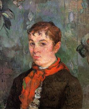 High quality Oil painting Canvas Reproductions The boss's daughter (1886) by Paul Gauguin hand painted