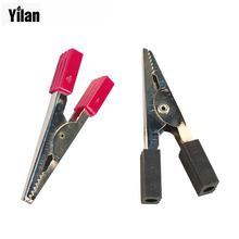 2pcs 9/5″ (45mm) Alligator Clips Electrical Crocodile Clips Insulated Test Alligator Battery Leads,Connectors
