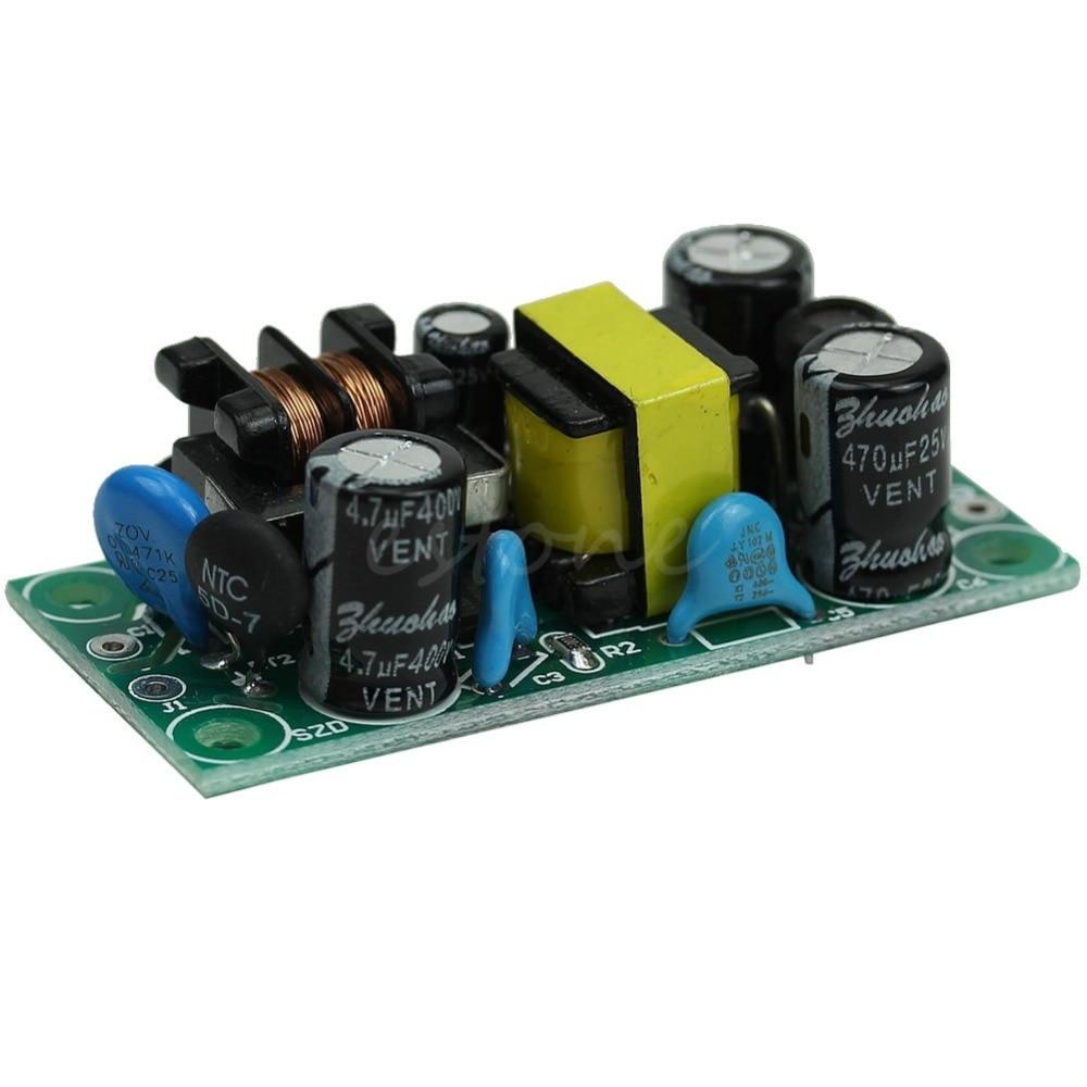 OOTDTY AC-DC 12V500mA Buck Converter Isolation LED Bare Plate Power Module Supply 220V