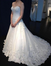 Lace Wedding Dresses Sweetheart US2-18W++ Modern Custom Made Bridal Gowns Appliques vestido de noiva Floor Length