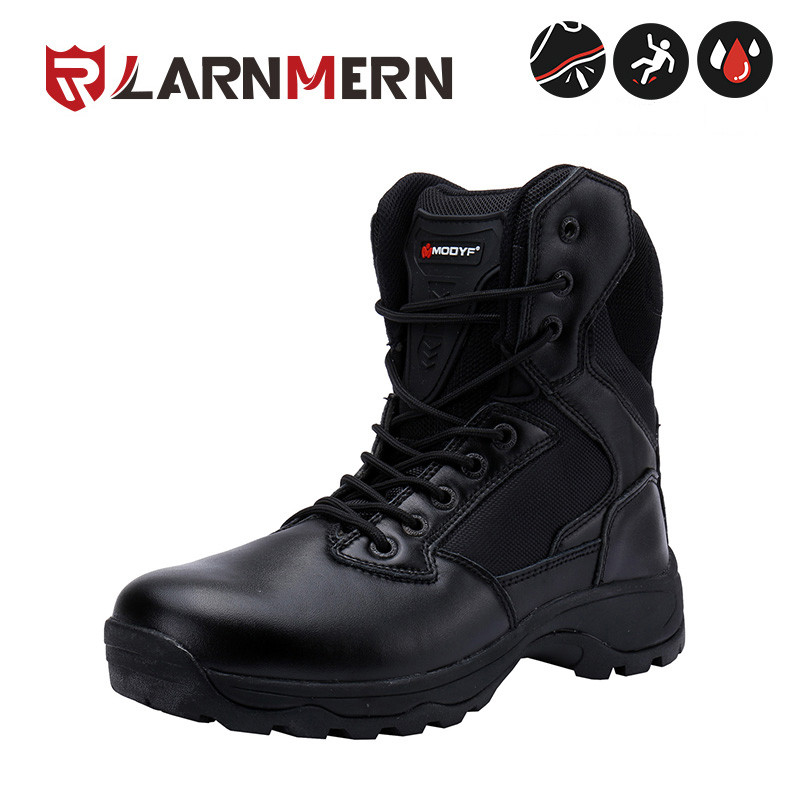 LARNMERN Men winter boots top quality Military wear proof motorbike shoes Fashion outdoor shoes nice look winter warm footw