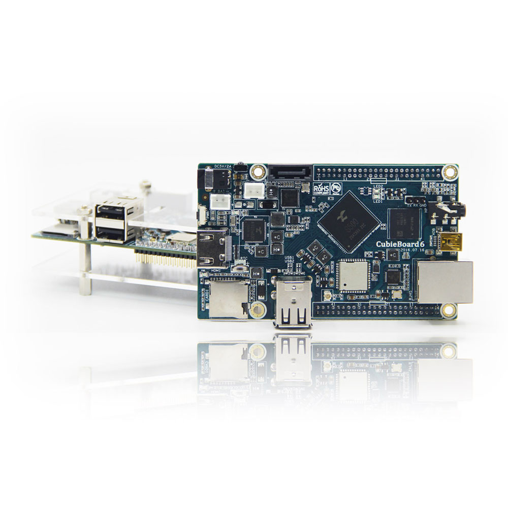 Cubieboard6 Actions <font><b>SOC</b></font> S500 ARM Cortex-A9 Quad-Core 2G LP DDR3 8G eMMC development <font><b>board</b></font>/ android/linux/Open source image