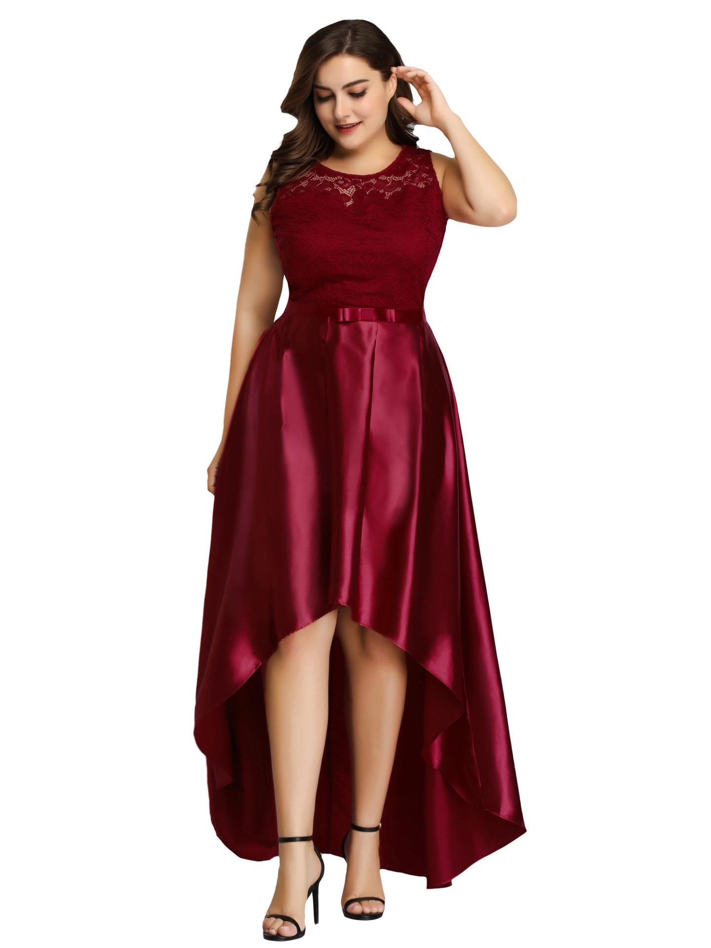 Plus Size Evening Dresses2019 New XL Lace High Waist Slim Slim Evening Dress Female Host Banquet XL Formal Evening Dress