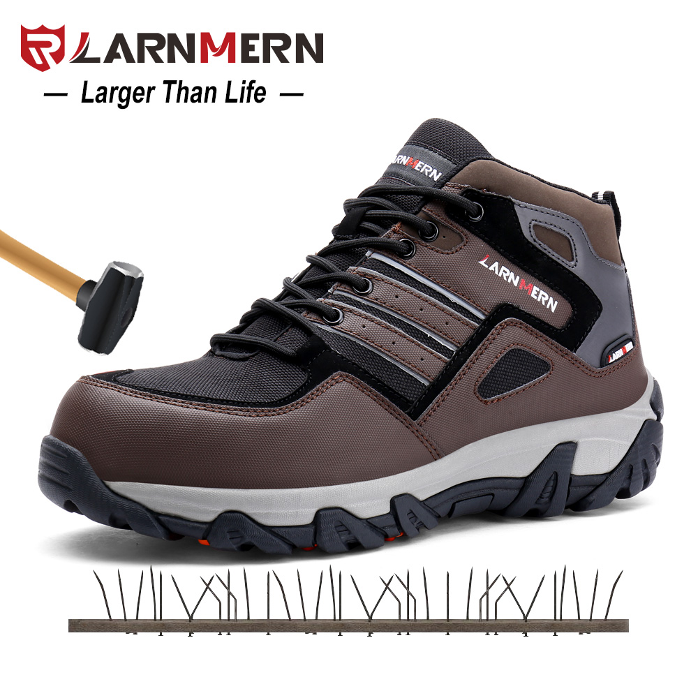 Safety Steel Toe Work Boots Safety Shoes With Reflective Stripe Outdoor For Men Work Industrial and Construction Shoe|Safety Shoe Boots| |  -