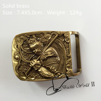 Retail New Style High Quality Solid Brass Cool 3D Monkey Belt Buckle For 4cm Wide Belt