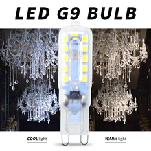 10PCS G9 Mini Led Light Corn Bulb Candle Lamp 14 22leds Crystal Chandelier Lighting 220V ampoule led For Bedroom Living Room