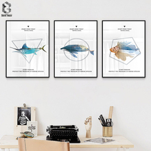 Modern Fish Whale Canvas Painting Landscape Wall Art Posters and Print Nodic Decorative Pictures For Living Room