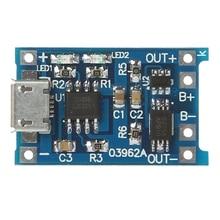 Carga Da Bateria de lítio + Placa de Circuito Proteção 2-Em-1 5 v 1A 2A Módulo Micro USB