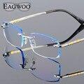 Titanium Очки Мужчины Близорукость Оправы Рецепту Чтения Фотохромные Прогрессивные Очки Большой Очки с Цвет линзы