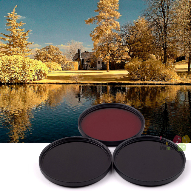 39mm 630nm+720nm+760nm Infrared IR Optical Grade Filter for Canon Nikon Fuji Pentax Sony Camera Lenses