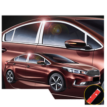 цены Lsrtw2017 Stainless Steel Car Window Edge Decoration for Kia K3 Kia Cerato