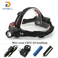 Portable Mini Zoomable Headlamps Headlight Rechargeable LED Head Lamp CREE waterproof 18650 battery OR AAA Flashlight head torch
