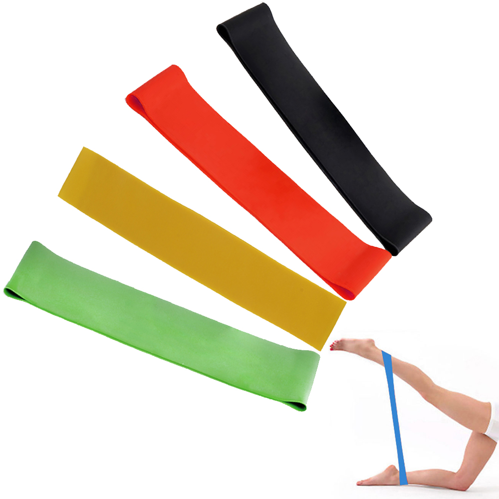 Hot Rubber Resistance Bands Træningsudstyr Body Building Latex Træk Rope Crossfit Fitness Yoga Gym Strength Band 4 Levels