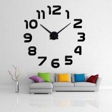 clock watch wall clocks horloge  diy acrylic mirror stickers home decoration living room quartz needle