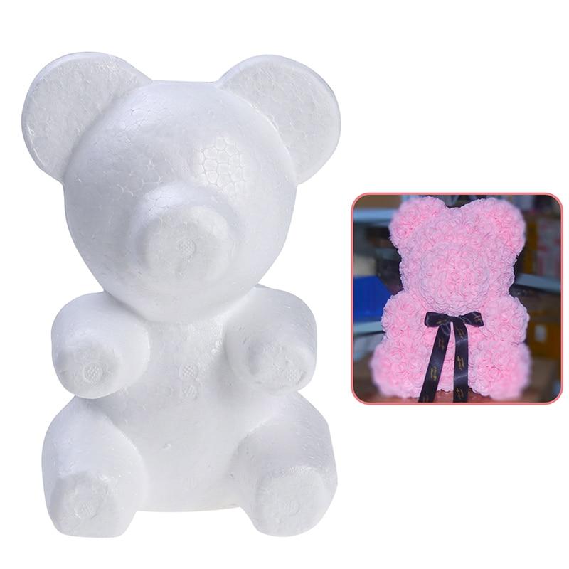 Modelling Polystyrene Styrofoam Foam Bear 200mm Wedding Decoration Foam Bear White Craft Balls For DIY Party Decor Gifts Holiday