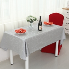 Circle Interlocking Rectangle Small Polyester Jacquard Hotel Tablecloths Wedding Table Round Cloth Mark Place Restaurant