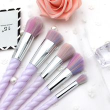 Элегантные фиолетовые кисти для макияжа Набор порошковых средств для наращивания волос для век