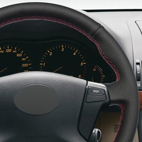 do carro de couro artificial macio para toyota avensis 2003 2007