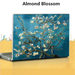Чехол для ноутбука Van Gogh, 15 дюймов, звездная ночная картина маслом, наклейки