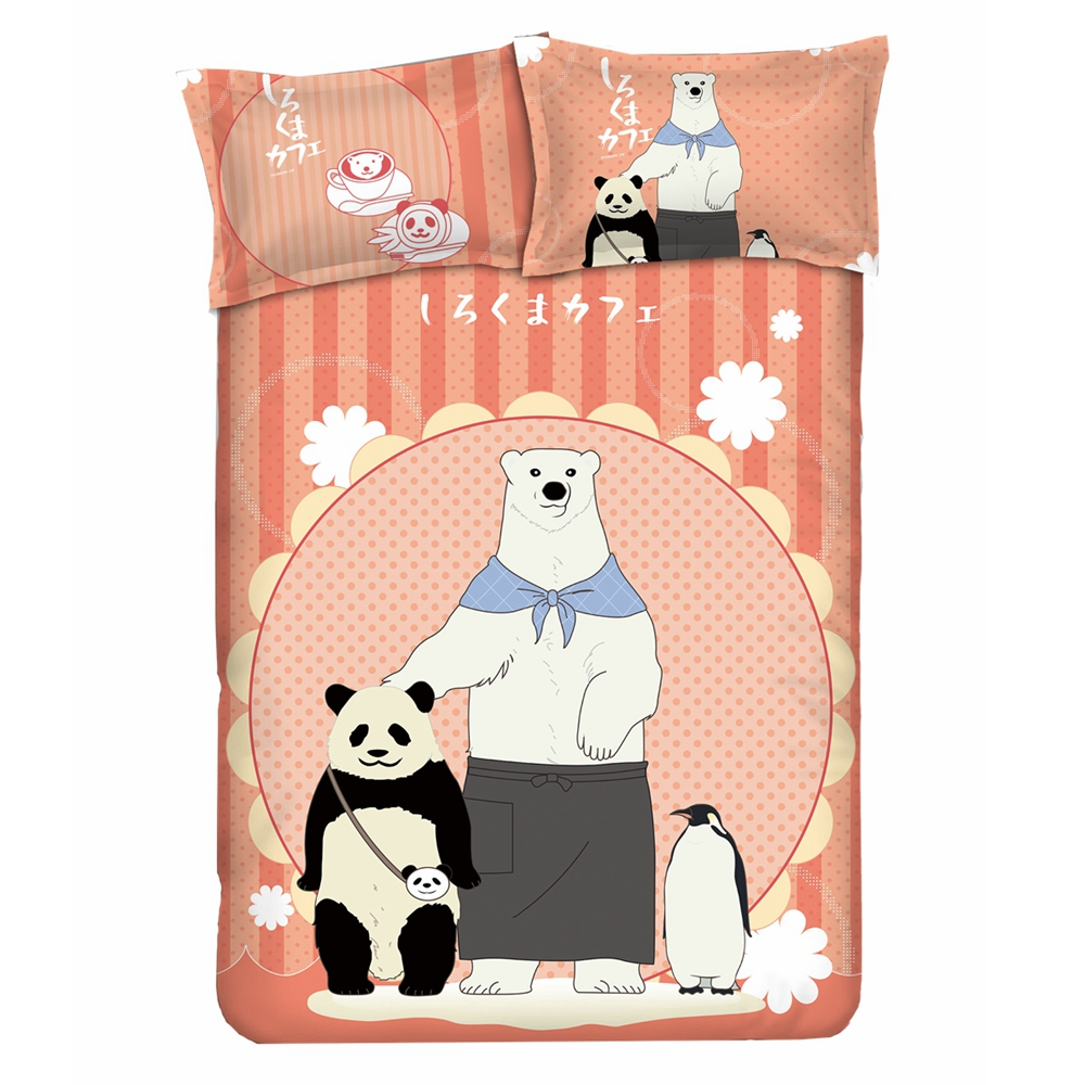 Costume Props Anime Jk Cartoon Shirokuma Cafe Panda Polar Bear Penguin Flannel Throw Blanket 1.5*2m Cute Soft Bed Plush Sleep Cover Bedding