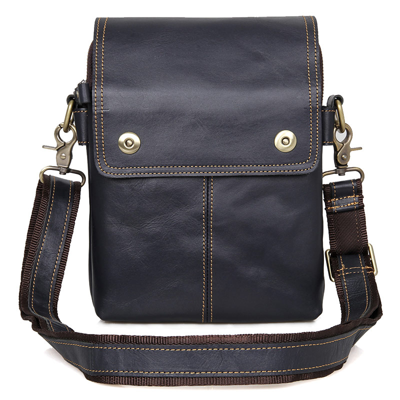 Men Genuine Leather Vintage Bag Male Small Flap Business Travel Ipad Mini Brand Designer Shoulder Crossbody Messenger Bags
