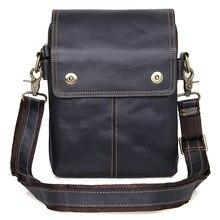 Men  Genuine Leather Vintage Bag Male Small Flap Business Travel Ipad Mini Brand Designer Shoulder Crossbody Messenger Bags недорго, оригинальная цена