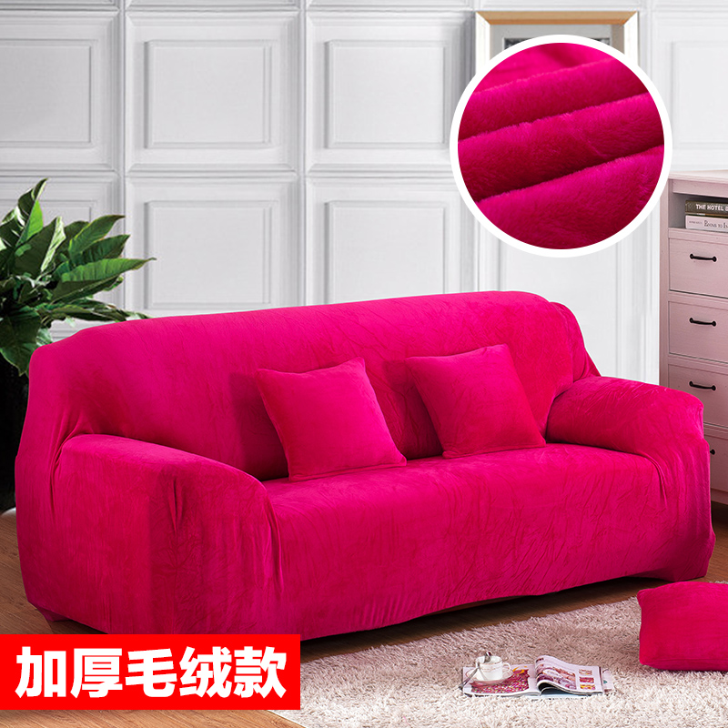 covers on the sofa corner stretch fabric Elastic L shaped Red Sofa ...