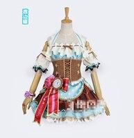 Anima LoveLive!Sunshine Watanabe You Aqours Valentine's Day Awakening Chocolate Maid Women Dress Cosplay Costume for Christmas