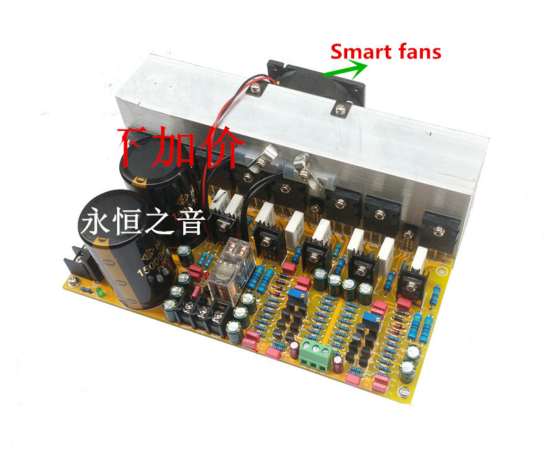 New 5200/1943 Power Tube 400W (Ohm) 2.0 Channel + Radiator Grade HIFI Power Amplifier Board new customized fixed type 400w 450 ohm ceramic tube resistor