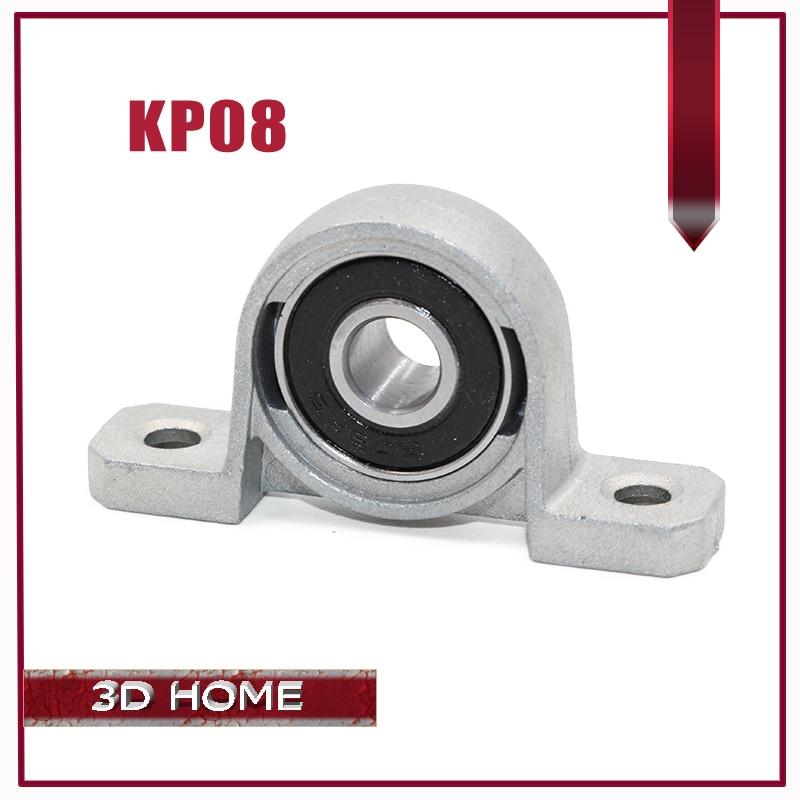 2PC KP08 8mm Bore Diameter Self Align Mounted Pillow Block Bearing Zinc Alloy Good Quality for CNC for 3D printer Lead screw цена 2017