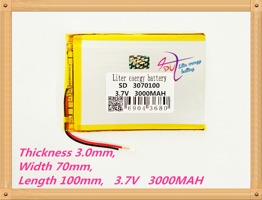 3070100Tablet PC Battery Capacity 3170100 3.7V 3000mA Universal Li-ion Battery For Tablet Pc 7 Inch 8 Inch 9inch