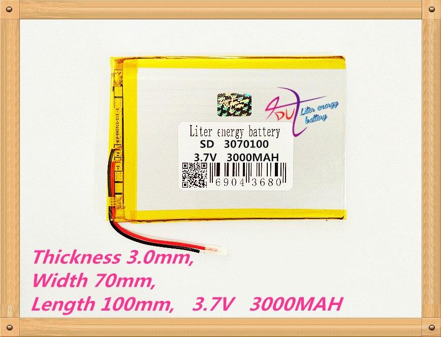 3070100Tablet PC Battery Capacity 3170100 3.7V 3000mA Universal Li-ion Battery For Tablet Pc 7 Inch 8 Inch 9inch