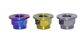 DIN6926 M12 Grade5 Titanium alloy Titanium Flanged Nylock Nut  Race Spec