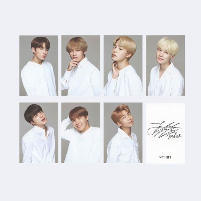 KPOP BTS Bangtan Boys ARMY Album Photo Card Hip Hop Self Made Paper Cards Autograph Photocard Free shipping