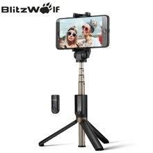 Blitzwolf 3 в 1 Беспроводной Bluetooth Selfie stick mini штатив Выдвижная монопод универсальный для iphone 8×7 6 S плюс для Samsung