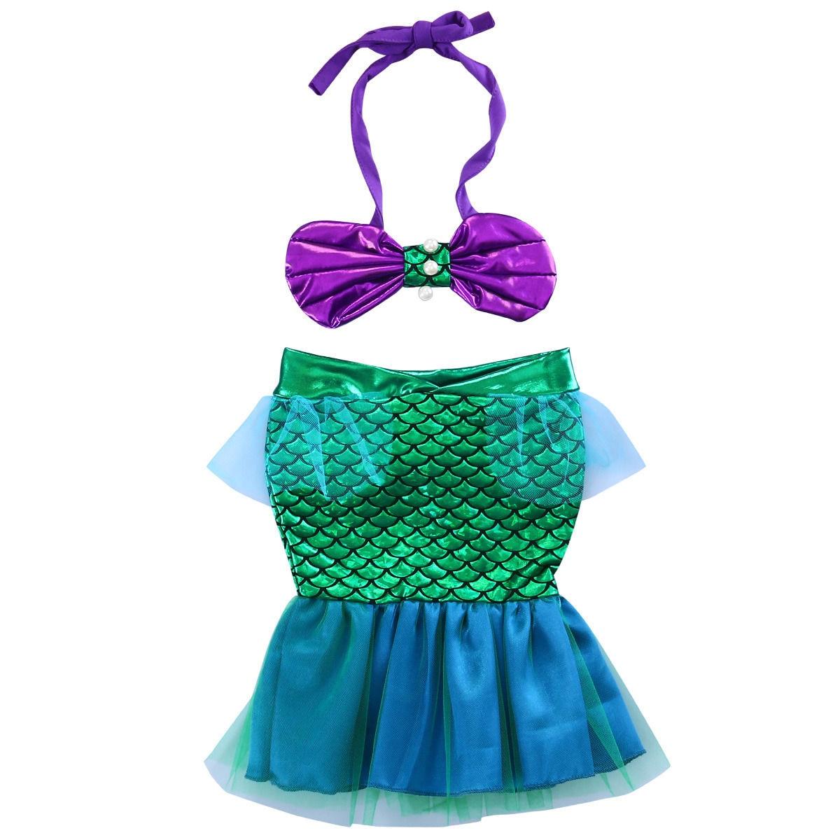 cute neonato ragazze mermaid tail vestito del bikini costumi da bagno di nuoto costume di fantasia