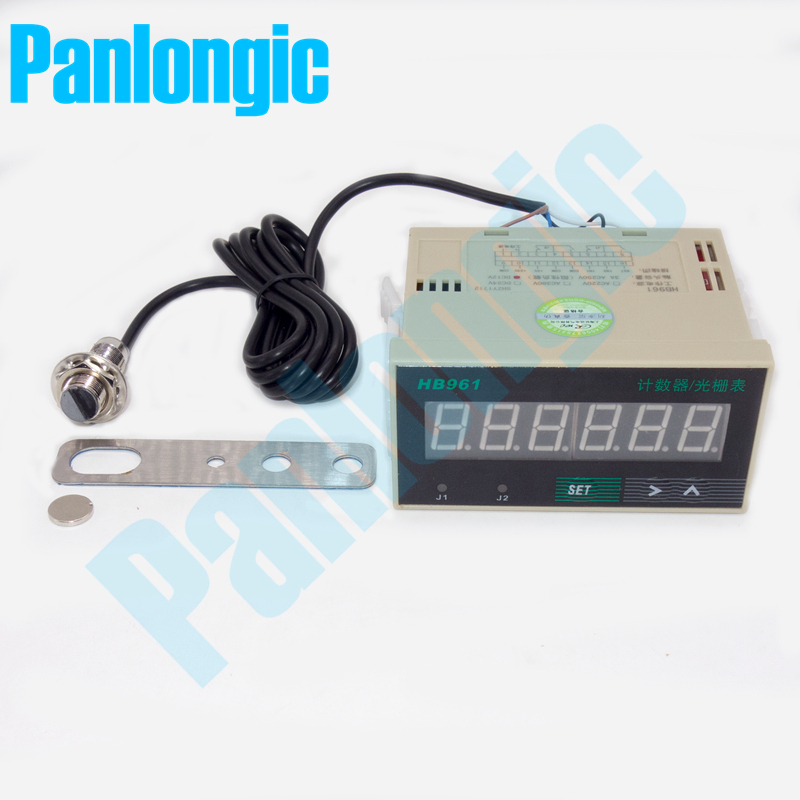 LCD 6-digit Bidirectional Reversible Proximity Switch Displacement Counter Accumulated Addition and Subtraction Counter
