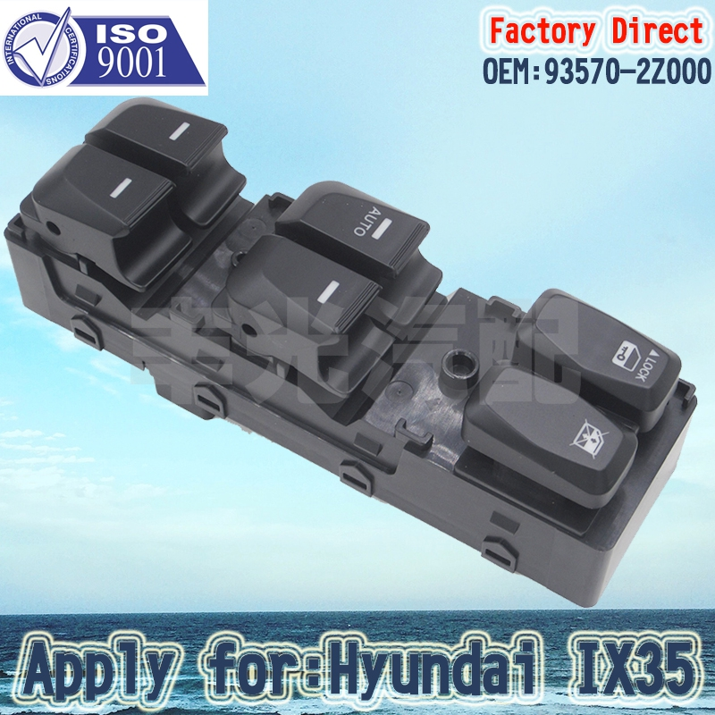 Factory Direct  Auto Power Window Switch Apply For Hyundai IX35 LHD Driver Side 93570-2Z000 16Pins