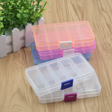 1pcs 10 Grids Electronic Small Part Storage Box Jewelry Beads Screws Organizer Display Makeup Fishing Tool Box Container Case(China)