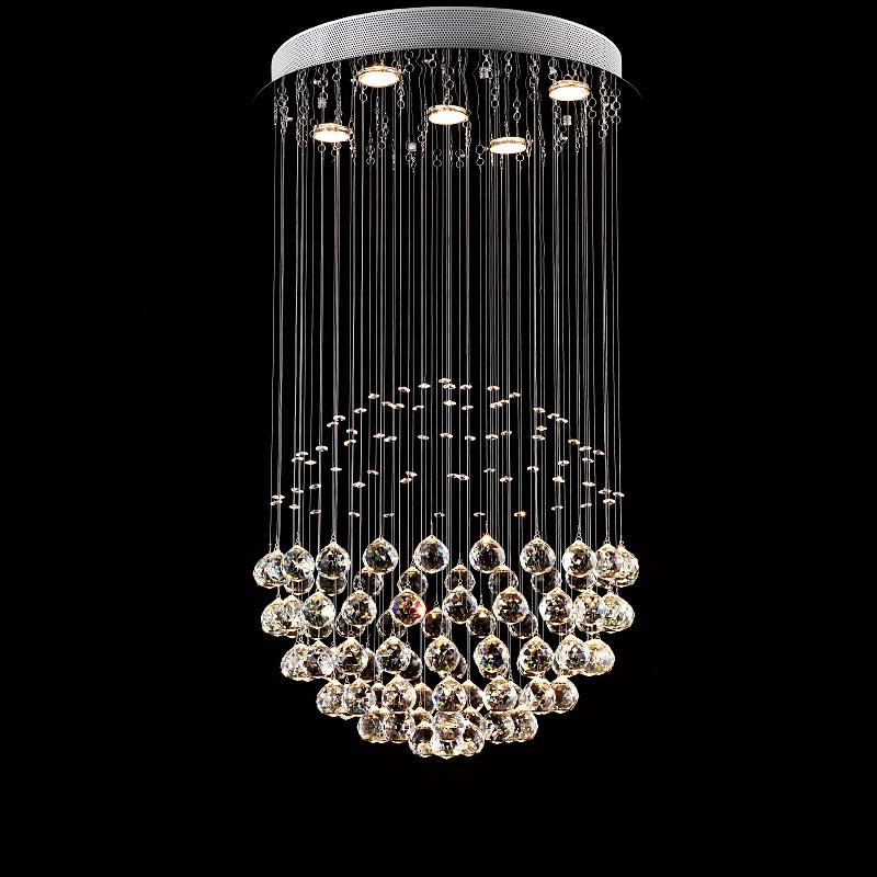 Modern Glass Crystal Pendant Light Meteor Rain Home Indoor Lighting Living Room Bedroom Stair Droplight Lamp AC110-240V PLL-501