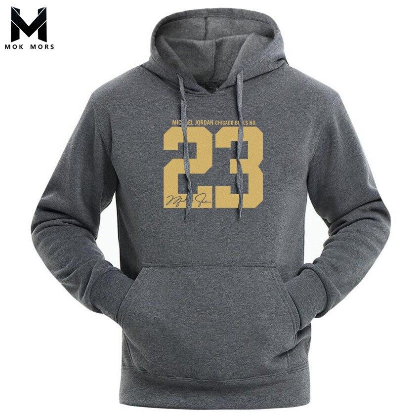 Sweatshirts Men Sportswear Long-Sleeve 23-Print High-Street Fashion-Brand Wild Jogger