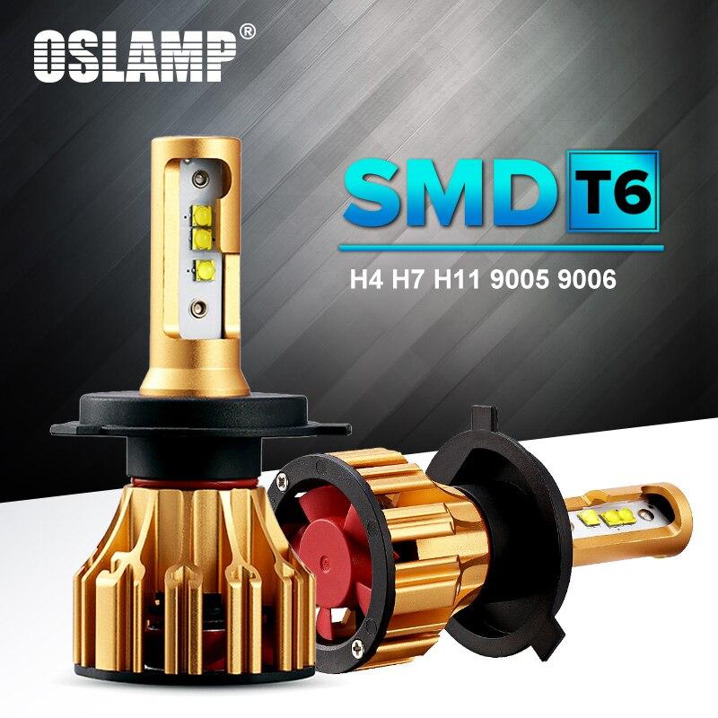 Oslamp llevó H7 faro 70 W 6500 K Chips SMD plug-n-play reemplazo del mercado H4 bombillas coche LED 9005 9006 H11 bulbo del coche