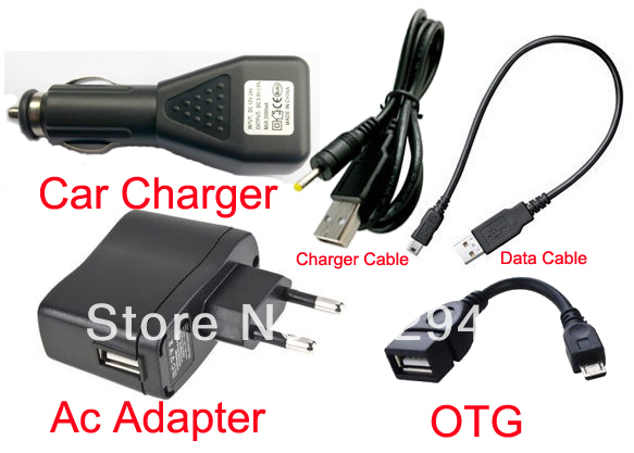 UE Plug Carregador de Parede Adaptador 5 V 2A + DC Carregador de Carro Porta USB + Cabo de dados para V8 V10 V76 V19 CHUWI V88 V88s RK3188 Tablet
