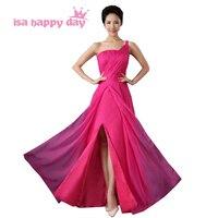 المرأة اليونانية نمط واحد الكتف fuchisa العروسة العروس الجميلة فستان طويل في هوت الوردي 2018 من الصين H3668