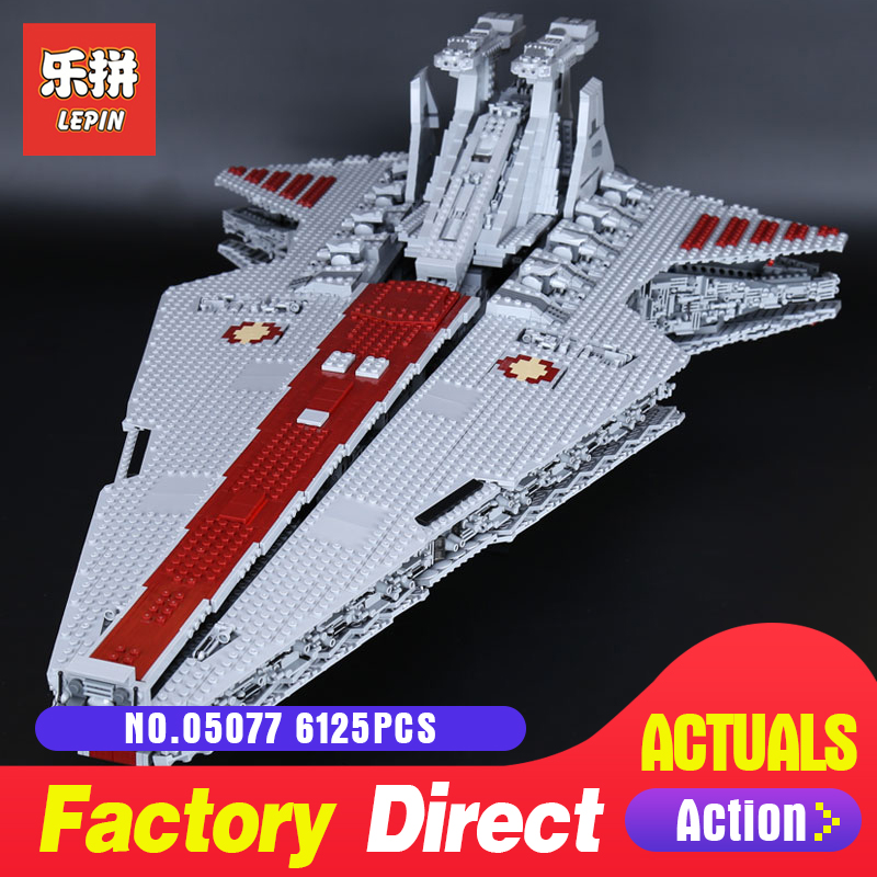 Star Destroyer 6125Pcs Lepin 05077 Classic UCS ST04 Republic Cruiser funny Building Blocks Bricks Toys Model Gift Wars lepin 05077 star destroyer wars 6125pcs classic ucs republic cruiser funny building blocks bricks toys model gift